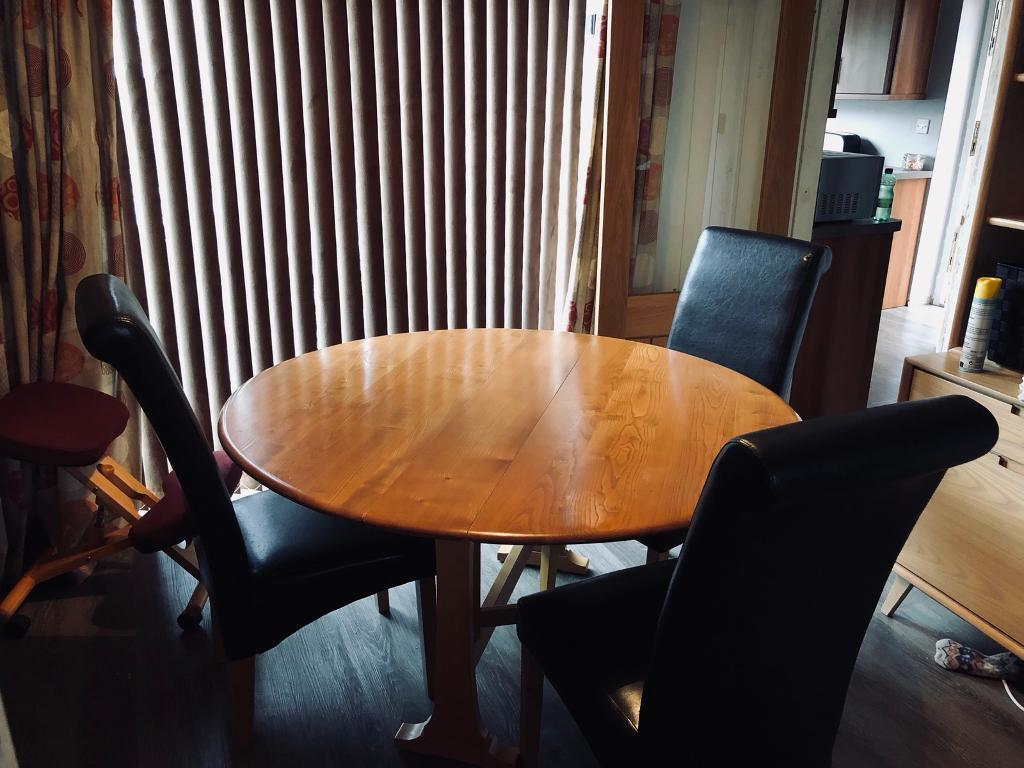 Ercol Extending Solid Oak Dining Table Beautiful In