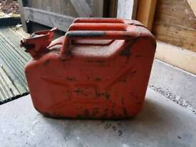 Metal 10ltr fuel can