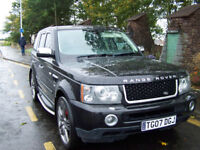 2007 07 RANGE ROVER TDV8 SPORT BLACK WITH UPGRADES NEW MOT