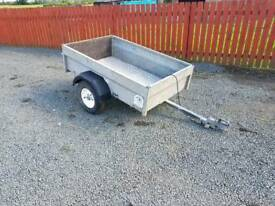 Swaledale 5x3 trailer drop down tailgate full chequered floor