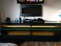 IKEA TV cabinet unit with internal LED display