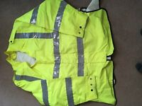 HI VIS POLICE EQUESTRIAN WATERPROOF OVER JACKET SIZE XL