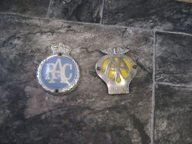 AA and RAC badges