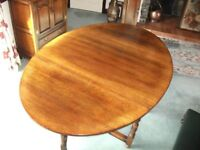 Large Gate Leg Table And Chairs Made Of Oak