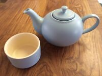 Sky Blue Teapot and Sugar Bowl House of Fraser