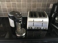 Breville 1 cup kettle and cream toaster