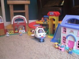 Fisher-Price Little People - House, Farm, Garage & Aeroplane