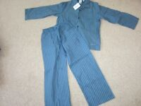 Boys Blue Striped Jasper Conran Pyjamas Age 5-6 NEW
