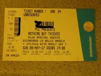 1 ticket for Nothing But Thieves gig on Sunday 28th May 2017 at La Belle Angele Edinburgh £15