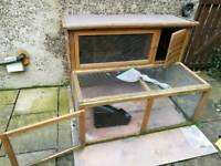 Outdoor Rabbit Hutch & Accessories