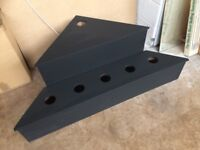CORNER DISPLAY UNIT WITH UNDER LIGHTING MADE FROM MDF / TIMBER -