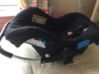 Two car seats for a baby