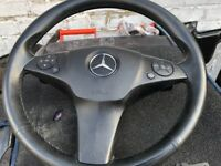 2010 MERCEDES C CLASS AMG STEERING WHEEL WITH AIRBAG COMPLETE