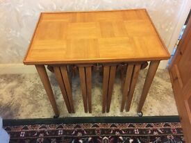Vintage nest of folding tables