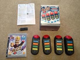 Buzz quizz game for PS3