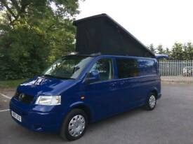LWB Volkswagen Transporter, VW, T5 Camper, Campervan, Day Bus, 4 Berth, Pop Top. NEW CONVERSION
