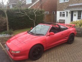 Toyota MR2 GT Mark 2, T BAR Roof, Red, Leather seats, Lovely condition and good runner
