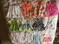 6 - 9 Months girls summer bundle 20 items Dresses, sets and summer rompers