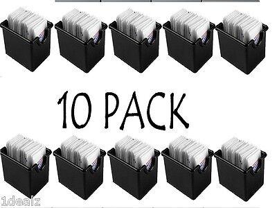 Plastic Sugar Packet Holder Caddy 10 PACK BLACK BRAND NEW FEDEX SHIPPING -