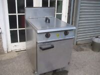 Falcon G2865 commercial twin tank fryer gas LPG.