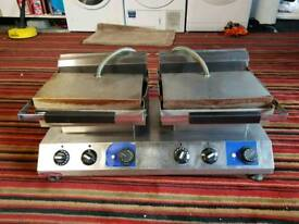 Commercial double panini grill press lincat sirman contact grill