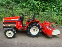 Yanmar F13D 4WD Compact Tractor & Rotavator *** NICE TRACTOR *** ** 473 Hours **