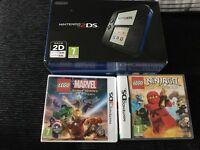 Blue Nintendo 2ds in box