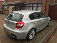 **METALIC SILVER BMW 1 SERIES 120D M SPORT 160 BHP, LOW MILEAGE, 1 OWNER FROM NEW**