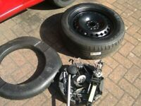 ONE,FORD,5 STUD,5 X 108 PCD,16 INCH STEEL WHEEL,C/W TOOLKIT FITTINGS,205/60/16 TYRE