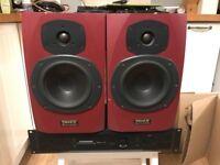 Tannoy Reveal, Passive nearfield monitor speakers and samson servo 170 power amp