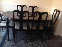 Lovely 6 chair dining table for sale in good condition bargain!