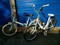 2 fold up bikes