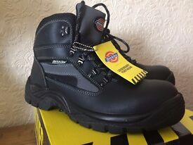 MENS DICKIES SEVERN SAFETY WORK BOOTS BLACK SIZE UK 9 FA23500 BLACK LEATHER