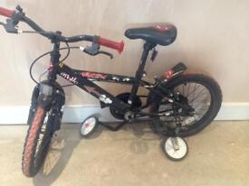 Childs Apollo Urchin Bike with stabilisers