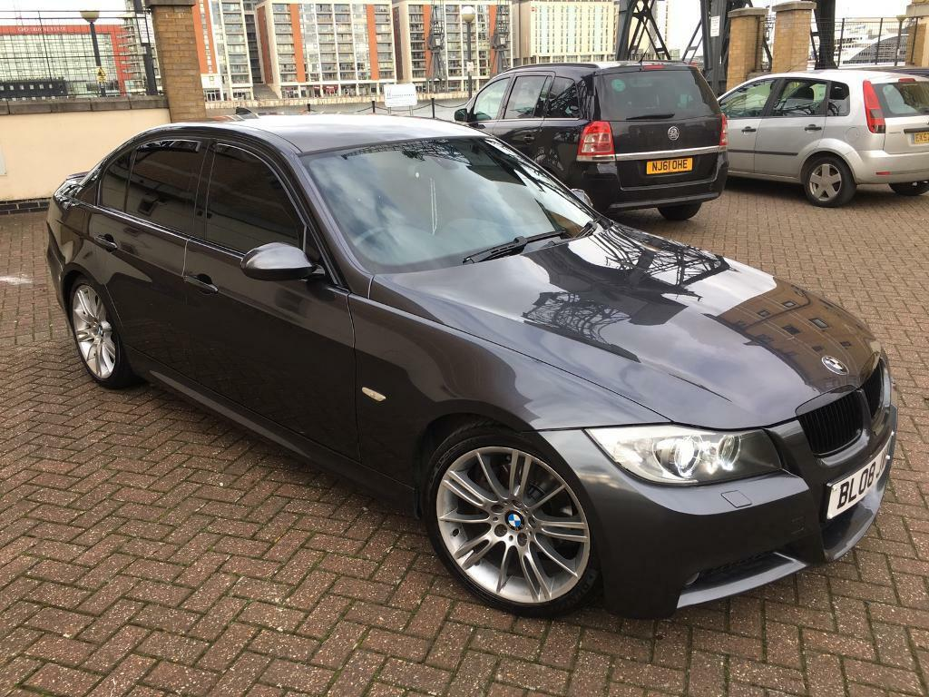 bmw 3 series 2 0 320i m sport 4dr idrive e90 2008 grey. Black Bedroom Furniture Sets. Home Design Ideas