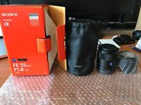 Sony Zeiss 55mm F1.8 Lens New, never fitted to camera (possible swap)