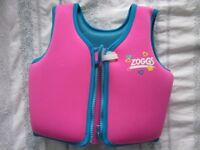 Zoggs life jacket 2-3 years