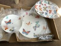 3 tier butterfly cake stand BNIB