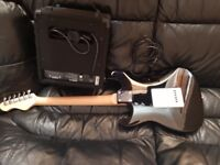 Elevation electric guitar with Acoustic Solution JE21 Amplifier