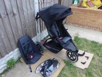Phil & Teds Explorer Double Seat Buggy Pushchair + extras