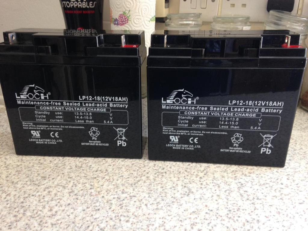 2x mobility scooter batteries   in Penwortham, Lancashire   Gumtree