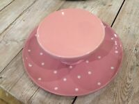 Cake stand and cake plate