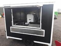 Catering trailer 10ft lpg equipment setup Gas griddle bain marie urn water boiler and pump system