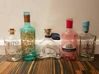 Pretty gin bottles. Perfect for fairy lights.