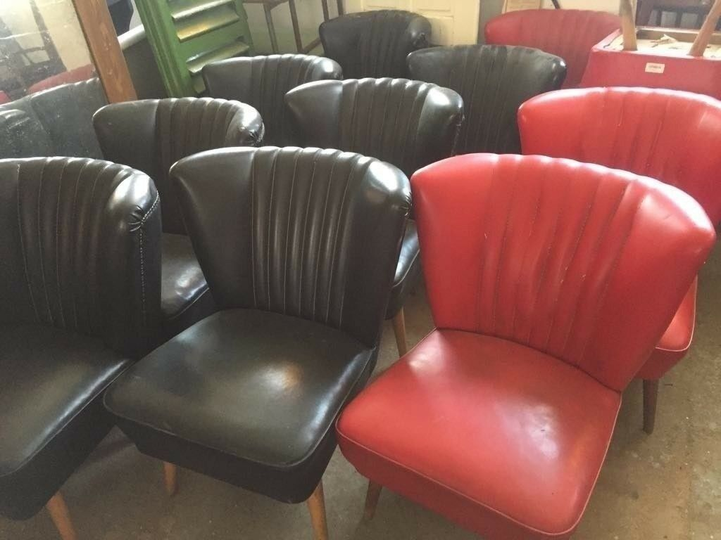 Set of 4 Black BARTHOLOMEW Chairs German Mid-Century Comfy Iconic 1950's