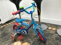 Thomas the tank bike with stabilisers