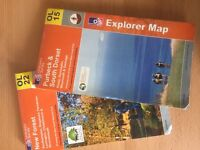 2 OS Explorer maps OL15 Purbeck & S. Dorset and OL22 New Forest