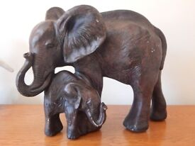 Elephant with Cube Giant Resin Sculpture ca. 7 KG