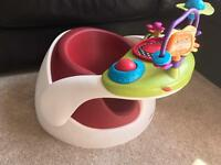 Mamas and papas bumbo play seat with toy tray