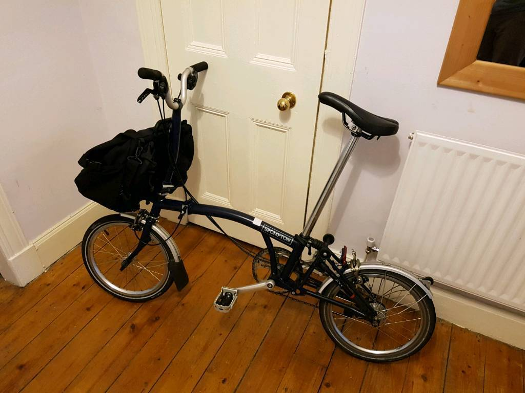 2017 Brompton M6L folding bike with Brompton T Bag